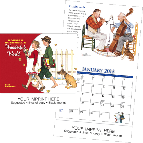 Promotional-Mini-Norman-Rockwell-Calendar