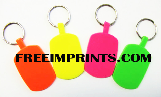 NEON OVAL KEY CHAINS
