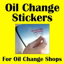 Oil Change Stickers
