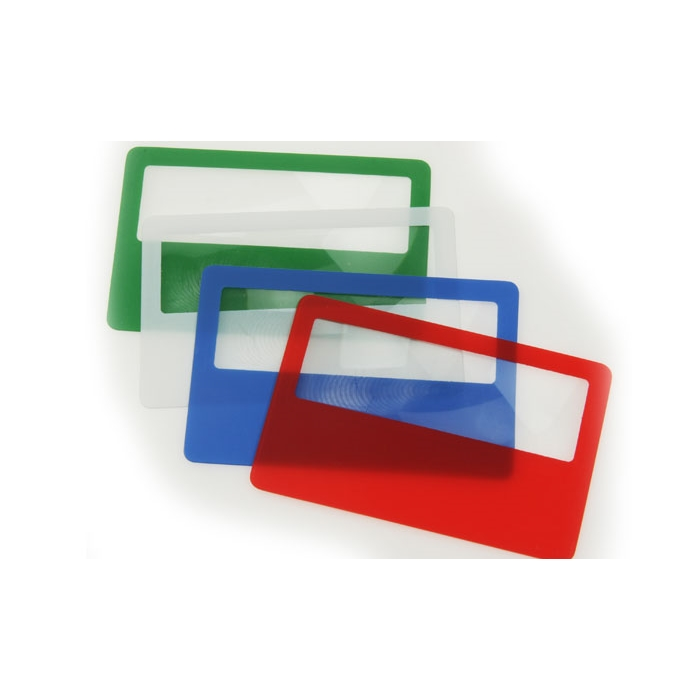 Business Plastic Cards With Magnifier